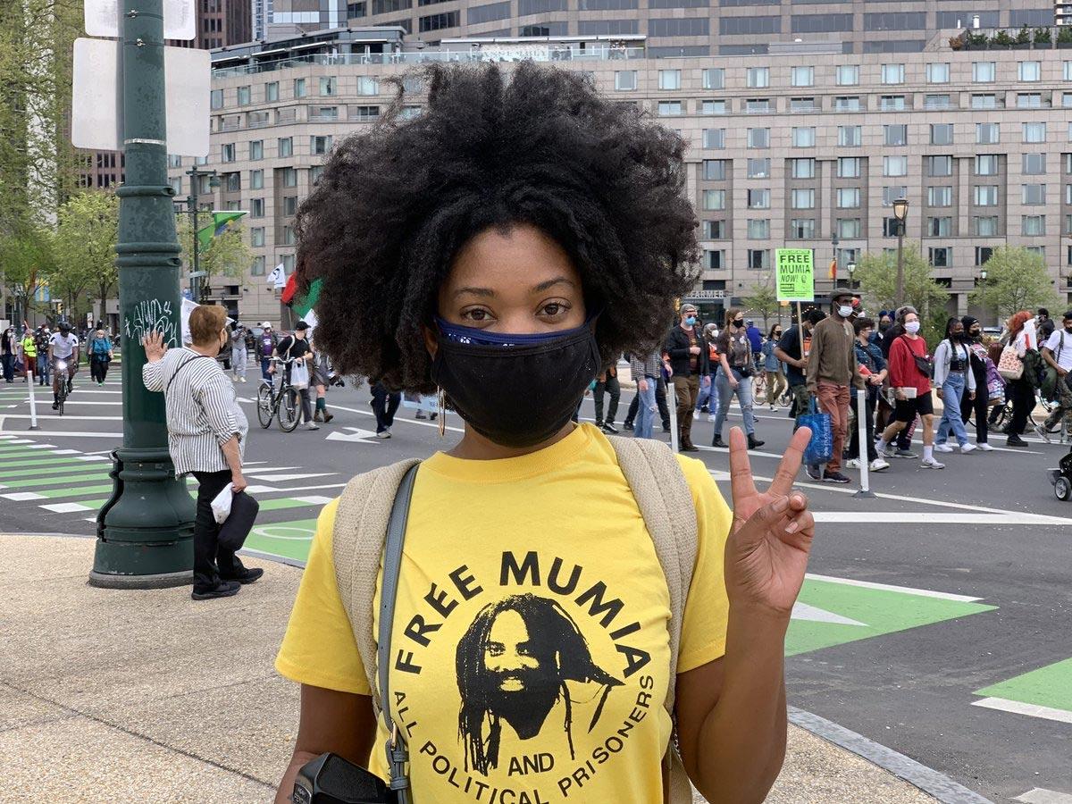Rita Harper came north from Atlanta to support the Free Mumia movement.