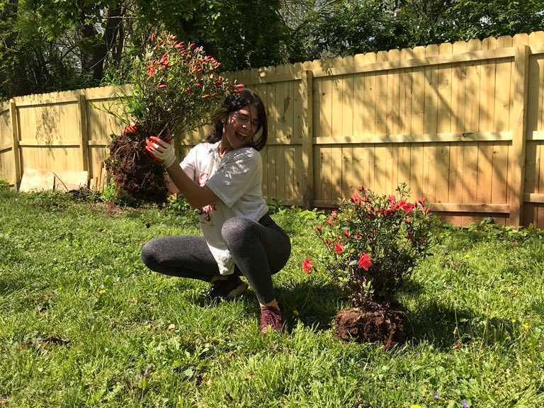 Nikka Duerte, 24, is fixing up her garden so she can invite her vaccinated friends over this summer. (Nikka Duerte)