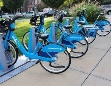 Indego bikes at station