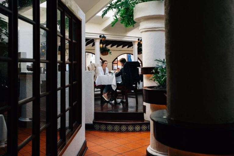 Guests dine at El Serrano restaurant