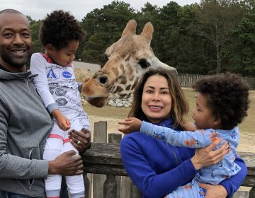 Mustafa Rashed with wife Cynthia Mauger and their sons Miles and Mathias (Courtesy of Mustafa Rashed)