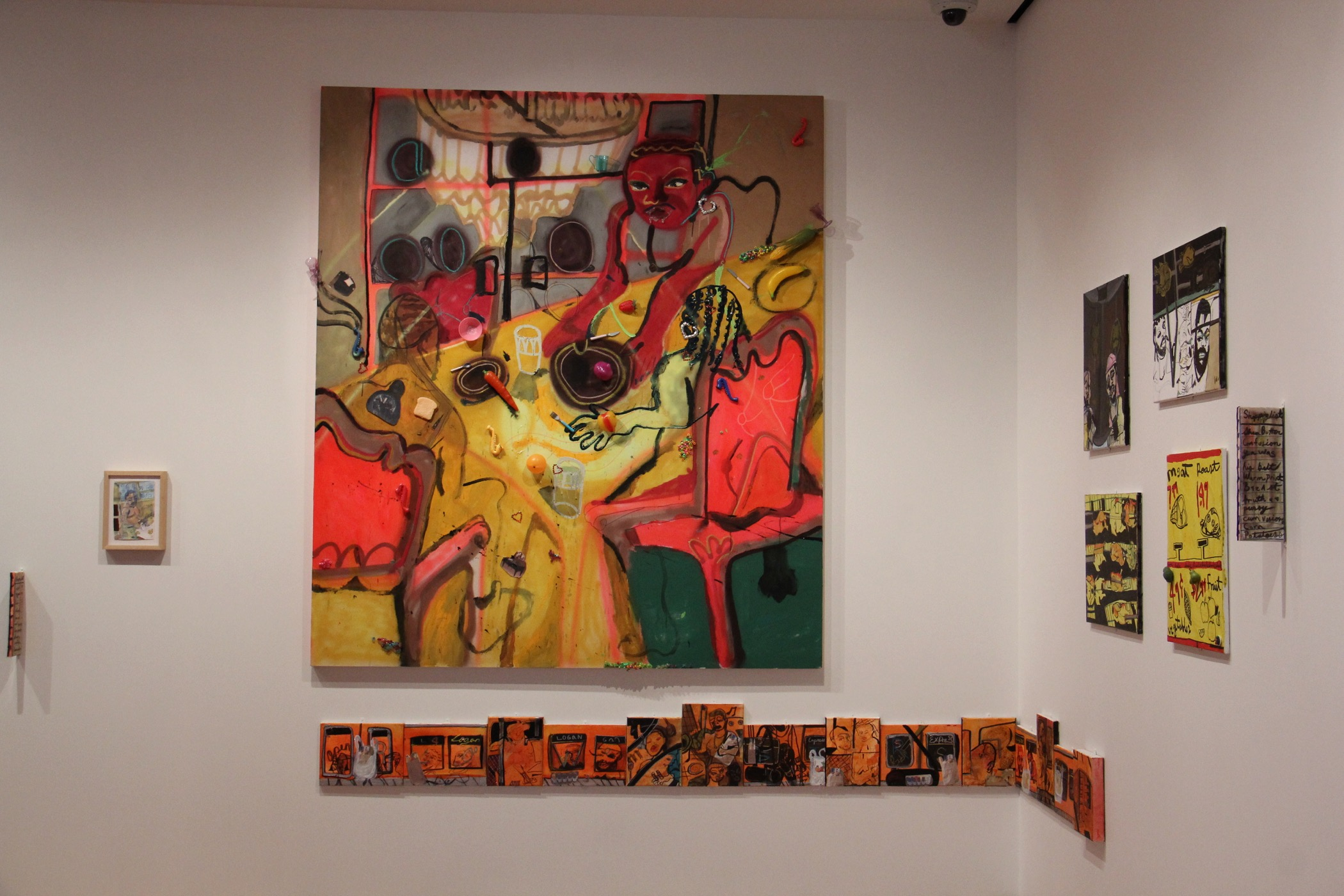The work of Philadelphia artist Jonathan Lyndon Chase is displayed in the new contemporary art galleries at Philadelphia Museum of Art. (Emma Lee/WHYY)