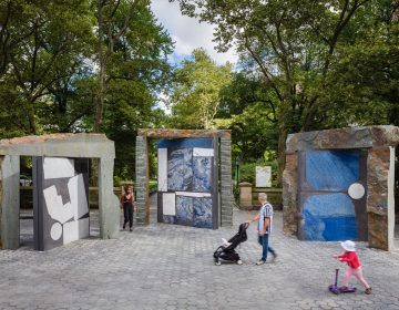 Sam Moyer's ''Doors for Doris'' is on display in Central Park. All three parts will come to the Philadelphia waterfront in October. (Courtesy of Philadelphia Contemporary)
