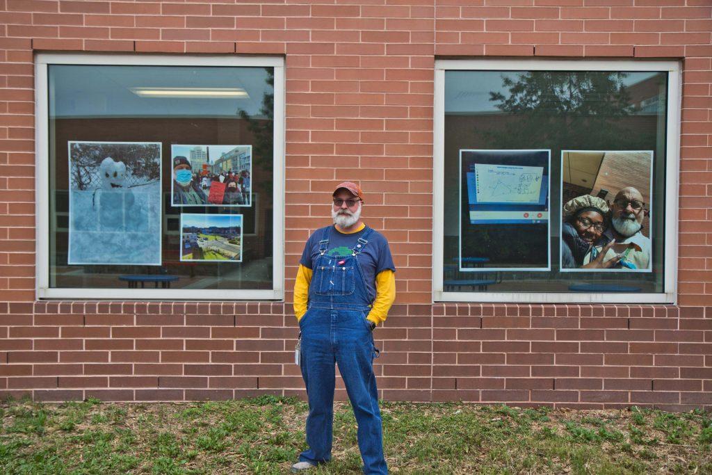 Peter Coyle is an art teacher at West Philadelphia High School. (Kimberly Paynter/WHYY)