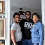 Clive and Oneita Thompson, with their son, Timothy, inside their West Philly home