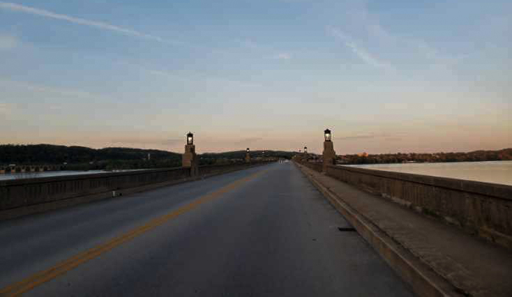 Wright's Ferry Bridge is pictured over the Susquehanna River