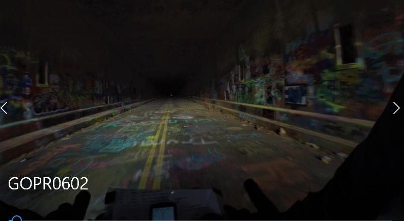 A shot captured via GoPro shows the inside of an abandoned Pennsylvania Turnpike tunnel.