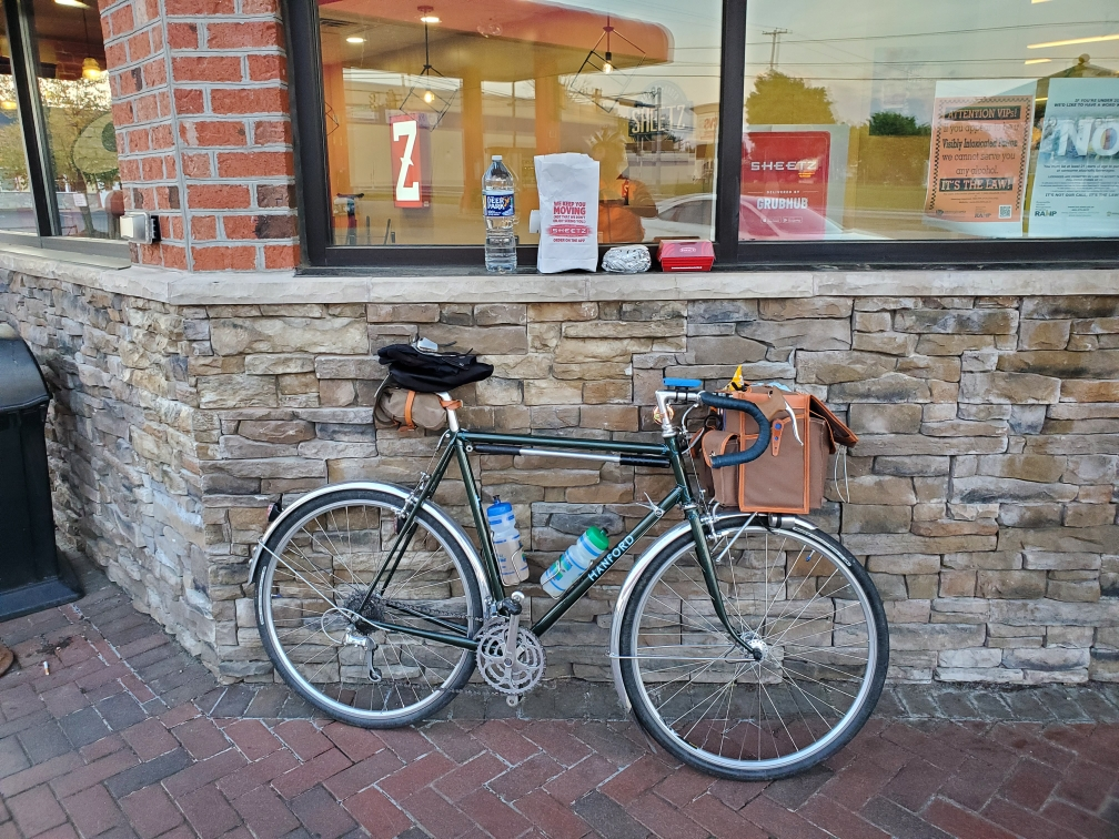 A bike is pictured outside Sheetz
