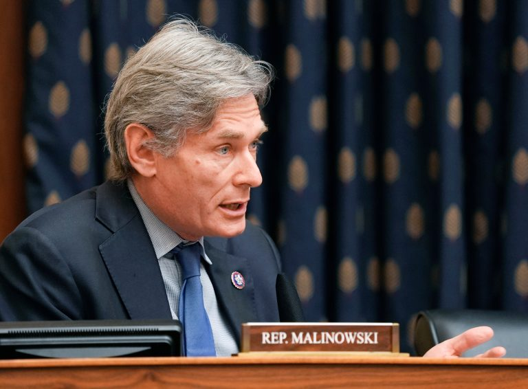 In this March 10, 2021, file photo, Rep. Tom Malinowski, D-N.J., speaks during a hearing on Capitol Hill in Washington. (Ken Cedeno/Pool via AP)
