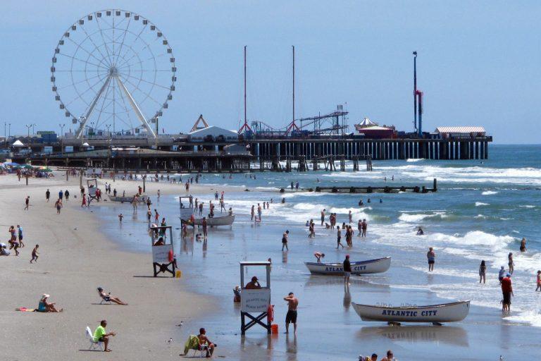 The Atlantic City, N.J. beachfront