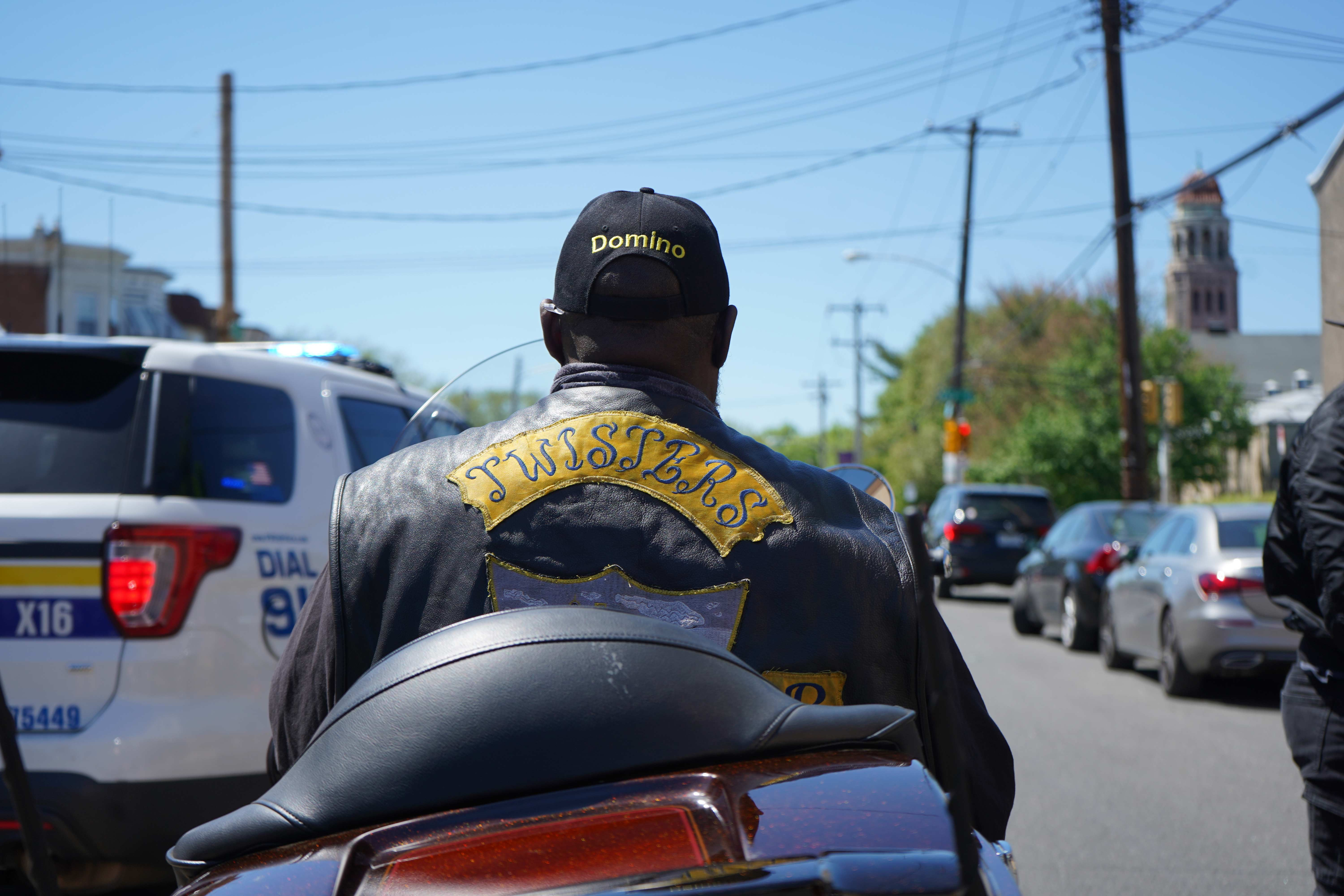 Anthony Stimpson is a member of the Twisters Motorcycle Club. (Kenny Cooper/WHYY)