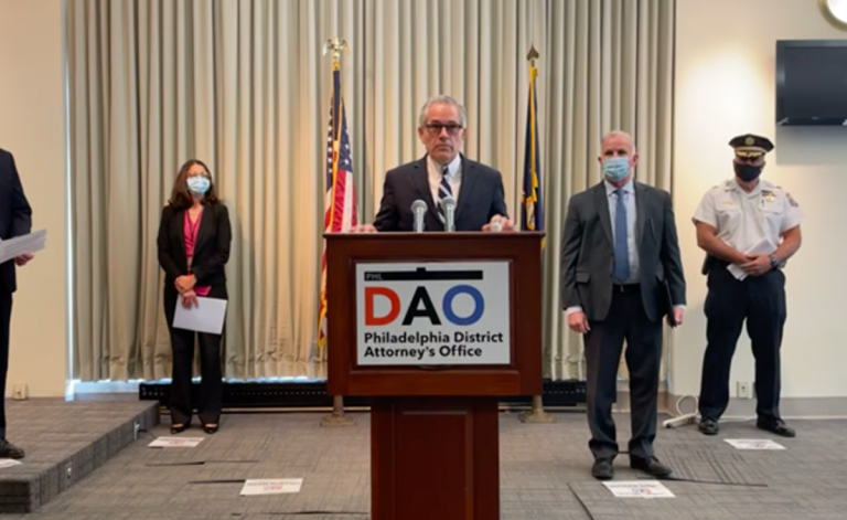 DA Krasner provides update on suspect accused of multiple sexual assaults. (DAO)