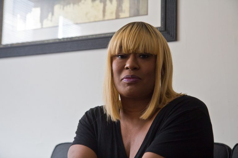 Since moving into her own place, Rita Stewart says, she feels healthier, supported and hasn't gone to the ER. 'It's a blessing,' says Stewart from her one-bedroom apartment with its small kitchen and comfy couch. 'This is a chance for me to take care of myself better.' (Kimberly Paynter/WHYY)