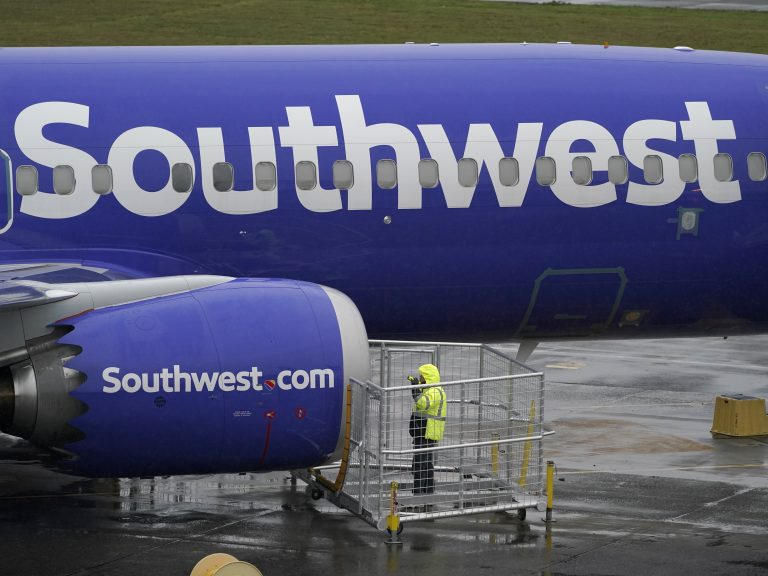 A Southwest Airlines plane, seen in November 2020. A flight attendant for Southwest was allegedly struck by a passenger and lost two teeth in the latest in a rash of violent attacks on planes. (Ted S. Warren/AP)
