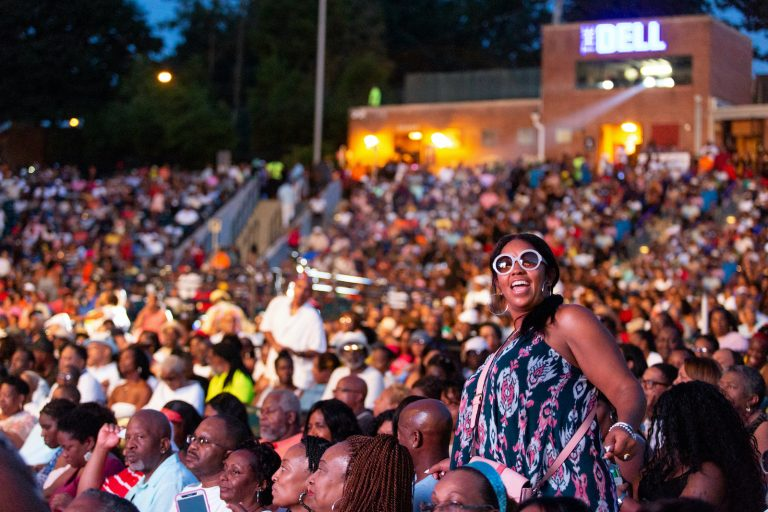 Attendees are pictured at the Dell Music Center