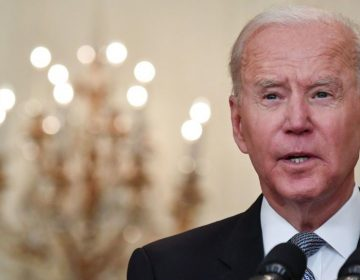 President Biden delivers remarks in the White House Monday on the COVID-19 response and the vaccination program. (Nicholas Kamm/AFP via Getty Images)