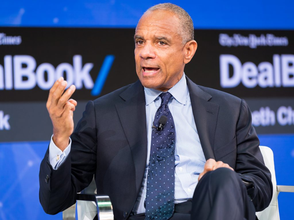 Kenneth Chenault speaks onstage at an investment conference in New York on Nov. 9, 2017 in New York City. Chenault, the former American Express CEO, reflects on how the legacy of the Tulsa riots impacted him personally. (Michael Cohen/Getty Images)