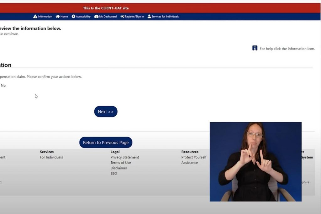 The Department of Labor and Industry is conducting training courses online for claimants to learn how to navigate the new unemployment system. (Screenshot)