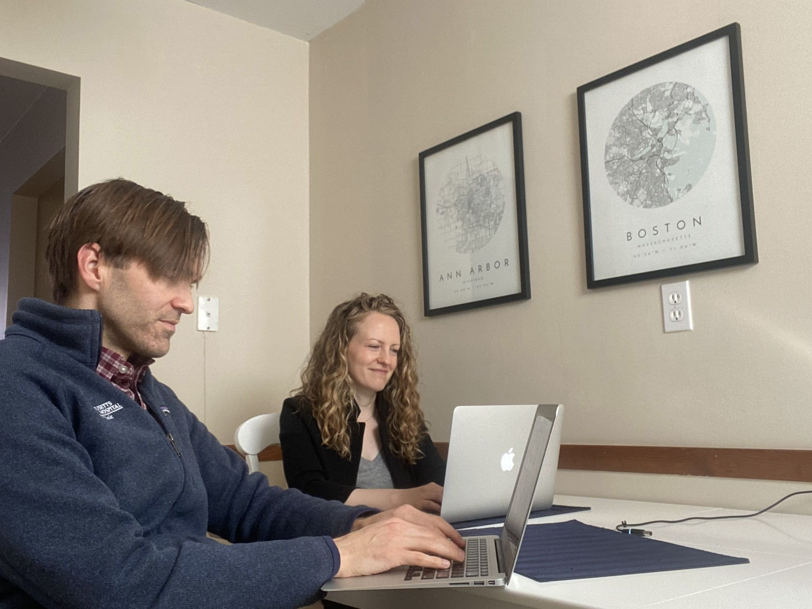 """Dan Johnson and Rebecca Ametrano have searched real estate listings since January. """"We've learned if you wait till the open house, probably it's going to be sold before the open house,"""" Johnson says. """"So then we're scrambling to figure out which one of us can take time off of work to go see it during a workday."""" Even so, he says they were too late as homes sold in less than two days. (Courtesy of Rebecca Ametrano and Dan Johnson)"""
