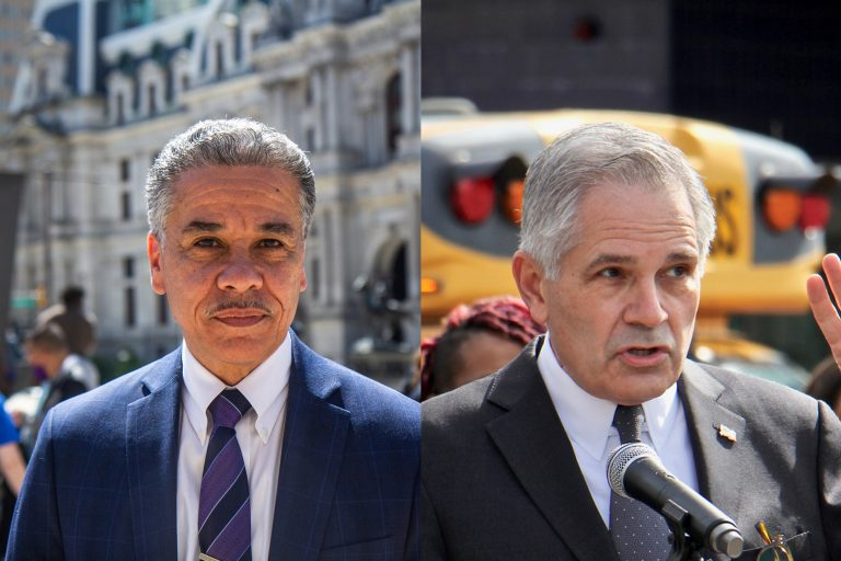 """Asked if his run for DA was a vendetta for being fired, Vega vigorously denied the idea. He had never before wanted to run for office, the former homicide prosecutor said, but the escalating murder rate in the city drove him into the political ring. """"I see the numbers of murders that have been happening since [Krasner] took office. Just this past year, 499 murders,"""" Vega said. """"As a father, a single dad, a person of color — we suffer the most. I decided to run for office."""" Krasner countered that the rise in gun violence is not related to his policy reforms. """"In 50 major U.S. cities last year the increase in gun violence was 42%. The increase in Philly is 40%, which is terrible, but what is happening is not unique to Philly,"""" Krasner said. """"The FOP and their candidate — my opponent — are weaponizing a national tragedy."""" Other issues got little air time, and there was little difference in the candidates' responses. Each tread similar ground when asked about the opioid crisis in the Kensington neighborhood, saying aggressive prosecution of those living with addiction should be a low priority, with the city instead offering social services and diversionary programs to avoid criminal proceedings and jail time. Krasner also said his office has been working with the FBI on wiretapping investigations to identify and arrest major dealers and those involved in drug trafficking, though he declined to elaborate."""