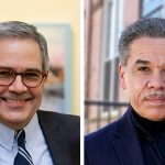Philadelphia District Attorney Larry Krasner; Challenger BAS SLABBERS / WHYY; EMMA LEE / WHYY