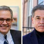 Philadelphia District Attorney Larry Krasner; Challenger BAS SLABBERS / WHYY; EMMA LEE / WHYY