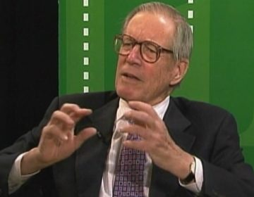 "Former Delaware Gov. Pierre S. ""Pete"" du Pont speaks during an interview with WHYY in 2011"
