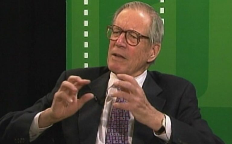 """Former Delaware Gov. Pierre S. """"Pete"""" du Pont speaks during an interview with WHYY in 2011"""