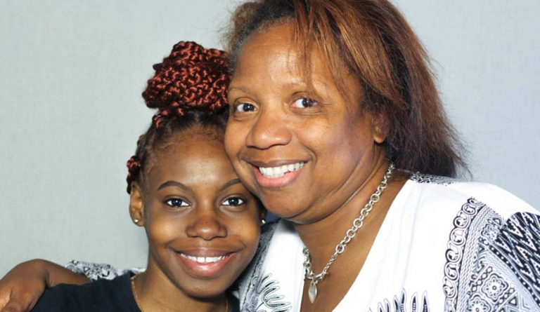 When Jade Rone, left, was first taken into Stacia Parker's care, she kept her feelings to herself. At their StoryCorps interview in Philadelphia in June 2019, Parker told her,