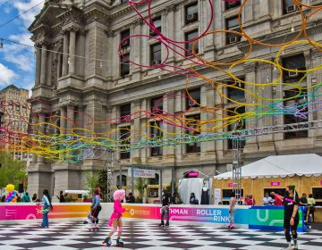 The Rothman Roller Rink at Dilworth Park. (Kimberly Paynter/WHYY)