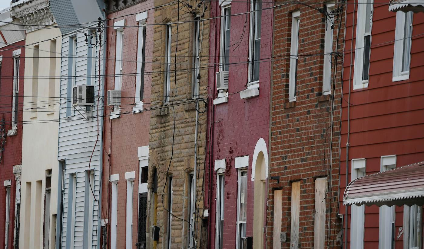 Shakoor's journey led back to the neighborhood where his dad grew up. Pictured above, his dad's old block. (Bastiaan Slabbers for WHYY)
