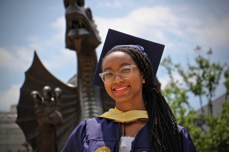 Micaiah Levy, 22, is a 2021 graduate of Drexel University. (Emma Lee/WHYY)