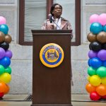 Celena Morrison is the Executive Director of the Office of LGBT Affairs for the City of Philadelphia. (Kimberly Paynter/WHYY)