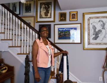 Sherry Howard is an art collector and writer. She blogs about works she acquired at auctions and the stories of their artists at myauctionfinds.com. (Kimberly Paynter/WHYY)