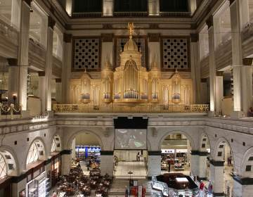 Wanamaker Organ at Macy's in Center City is 110 years old. (Emma Lee/WHYY)