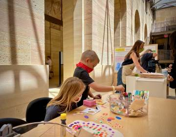 Brendan and Bronwyn Bradley, have been participating in museum art classes for five years. (Kaamil Jones for WHYY)