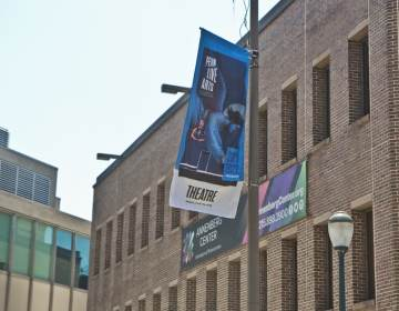 The Annenberg Center for the Performing Arts announced they are changing their name to Penn Live Arts as they announced their 2021-2022 season on June 29, 2021. (Kimberly Paynter/WHYY)