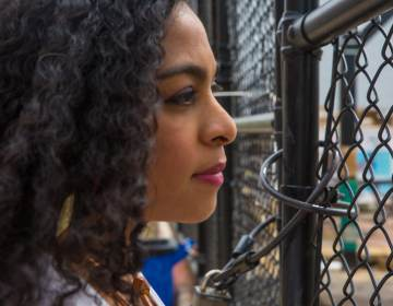 Gabriela Watson-Burkett observes the playground and reminisces of her first experience moving living in Philly in 2013, coming from Sao Paulo, Brazil. (Burkett Photography for WHYY)