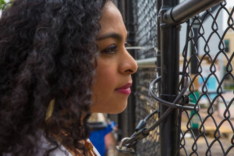 Gabriela Watson-Burkett observes the playground and reminisces of her first experience living in Philly in 2013, coming from Sao Paulo, Brazil. (Burkett Photography for WHYY)
