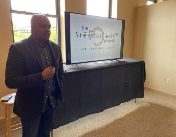 Dr. Donald Morton hopes to mentor 10,000 Black men as part of his ReManned Project based out of Wilmington. (Mark Eichmann/WHYY)
