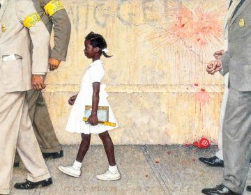 Norman Rockwell painting depicting Ruby Bridges