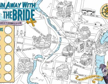 Run Away with the Bride map (Bri Barton and Meg Lemieur)