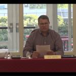Souderton School Board President Ken Keith speaks at a school board meeting on June 17, 2021. (Zoom)