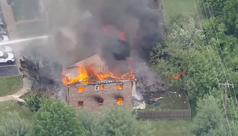 Multiple homes went up in flames in Eagleville, Pennsylvania on Thursday afternoon after authorities say a code enforcement officer encountered a homeowner who was allegedly armed with a weapon. (6ABC)