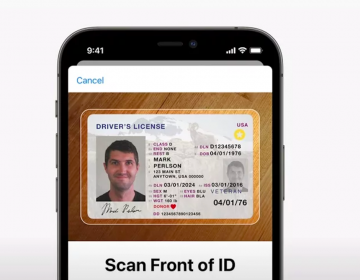 Apple announced this week at its Worldwide Developer Conference a new feature in its forthcoming operating system, iOS 15, that will digitize state-issued licensees and ID cards. (Apple)