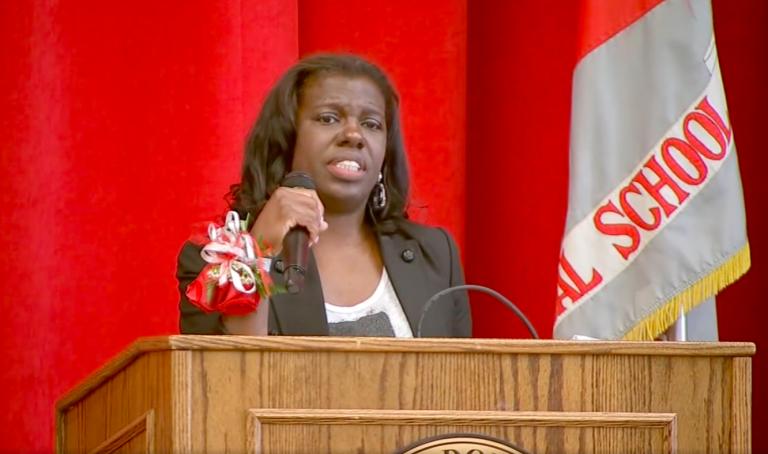 Murrell Dobbins High School principal Ms. Shervon Thompson. (6ABC)