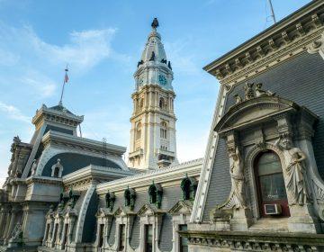A closeup of Philadelphia City Hall.