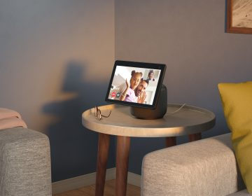 Amazon's Echo Show devices are among those that will automatically be added to its shared Wi-Fi network scheme, called Amazon Sidewalk. (Amazon)