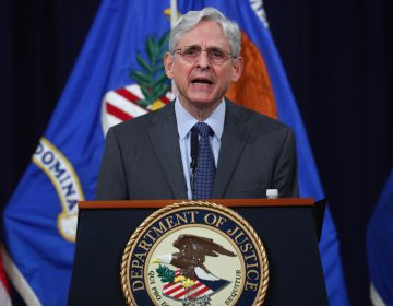 U.S. Attorney General Merrick Garland delivers remarks on voting rights at the Department of Justice on Friday. (Tom Brenner/Pool/Getty Images)