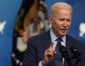 During a meeting with Sen. Shelley Moore Capito, R-W.Va., on Wednesday, President Biden opened the door to laying aside his original proposal to help pay for infrastructure investments by raising the corporate tax rate from 21% to 28%. (Alex Wong/Getty Images)